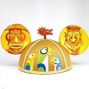 Disney Designer SHAG TIki Room Mickey Ears Hat